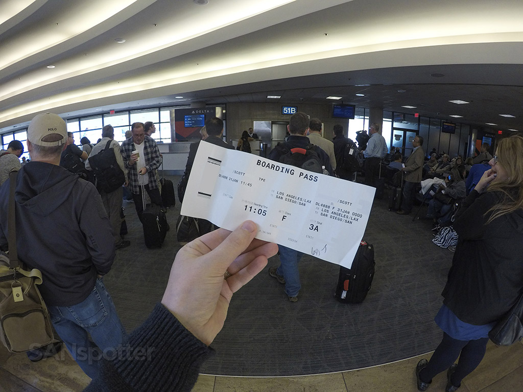 delta connection boarding pass LAX