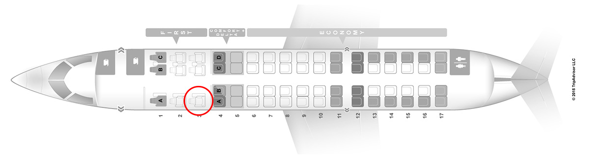 delta connection skywest CRJ-700 seat map