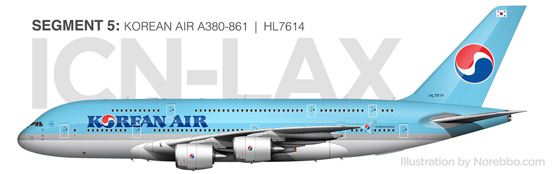korean air a380 side view