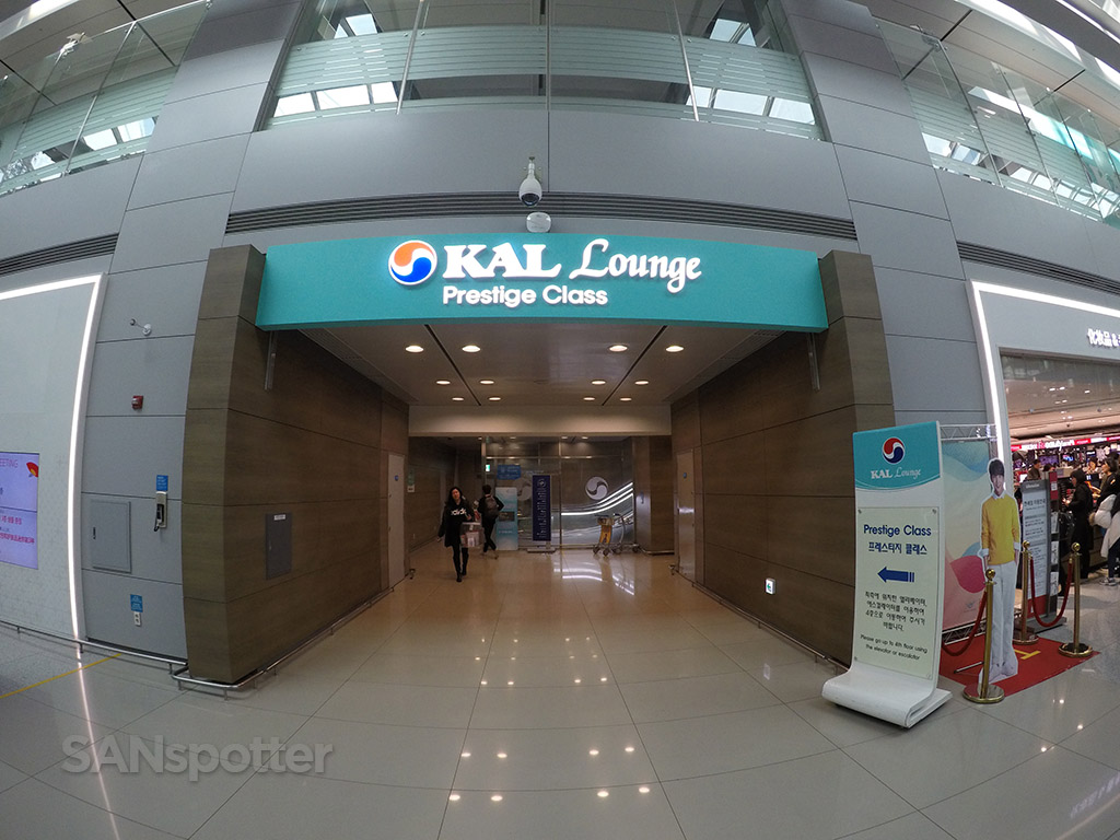 KAL business class lounge entrance ICN