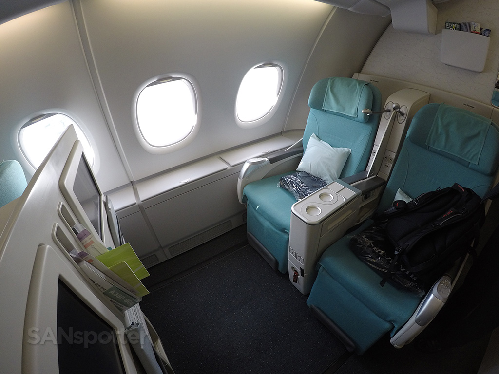 Korean Air A380 business class seats