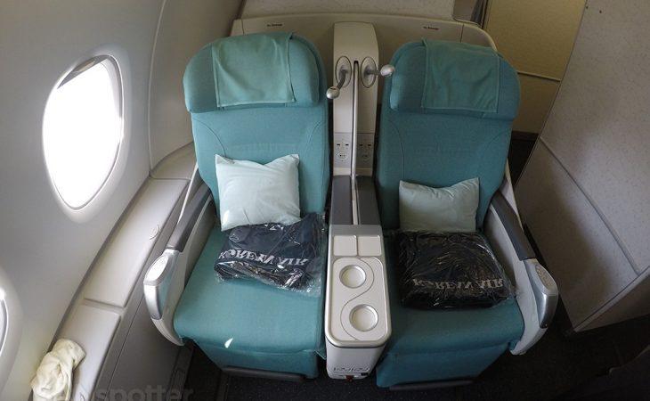 Korean Air A380 business class seats