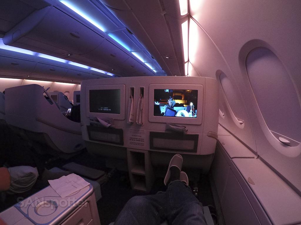 korean air a380 mood lighting