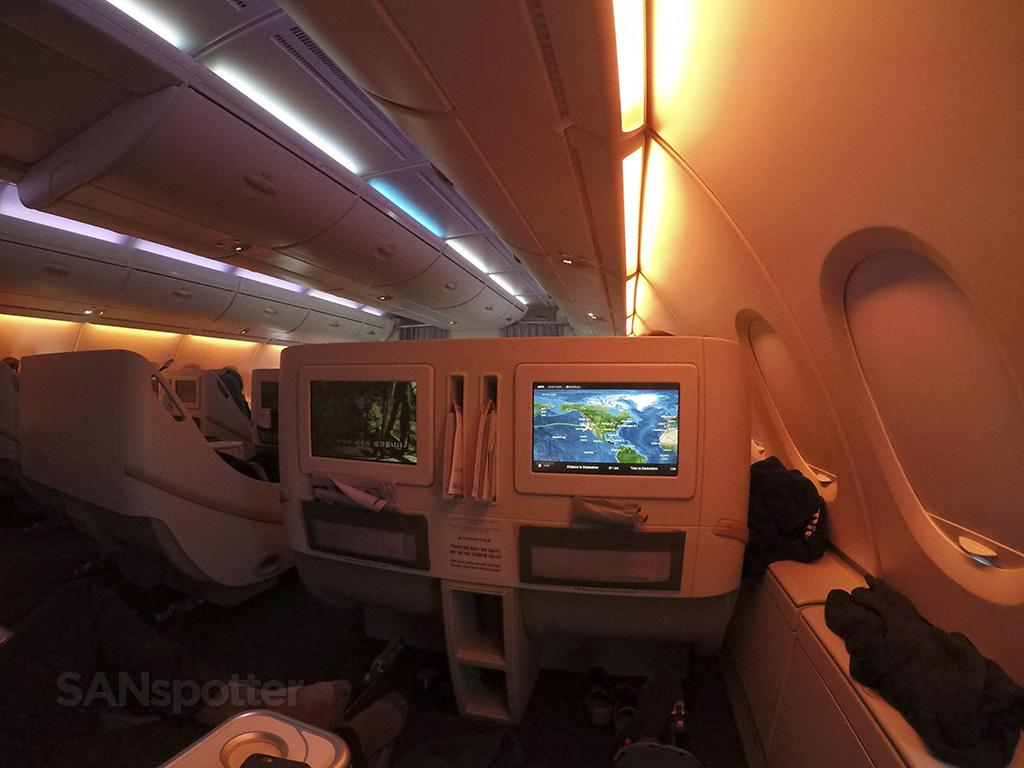 korean air a380 mood lighting