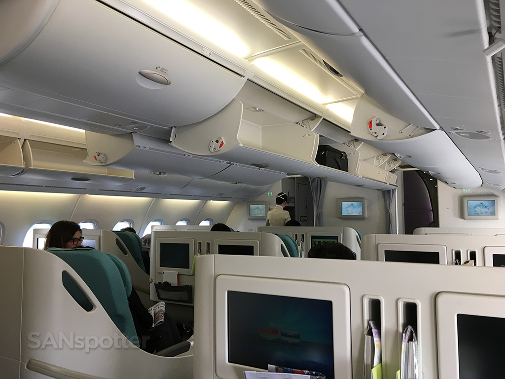 Korean Air A380 business class cabin