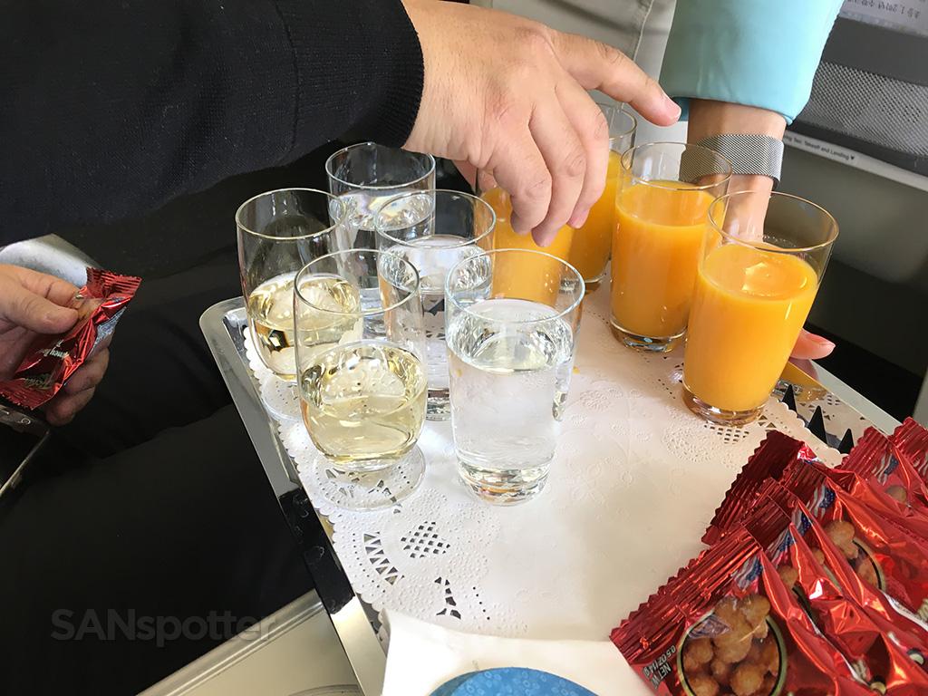 korean air pre flight drinks