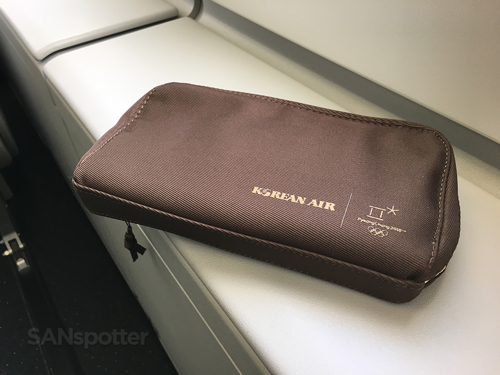 Korean Air Prestige Class amenity kit