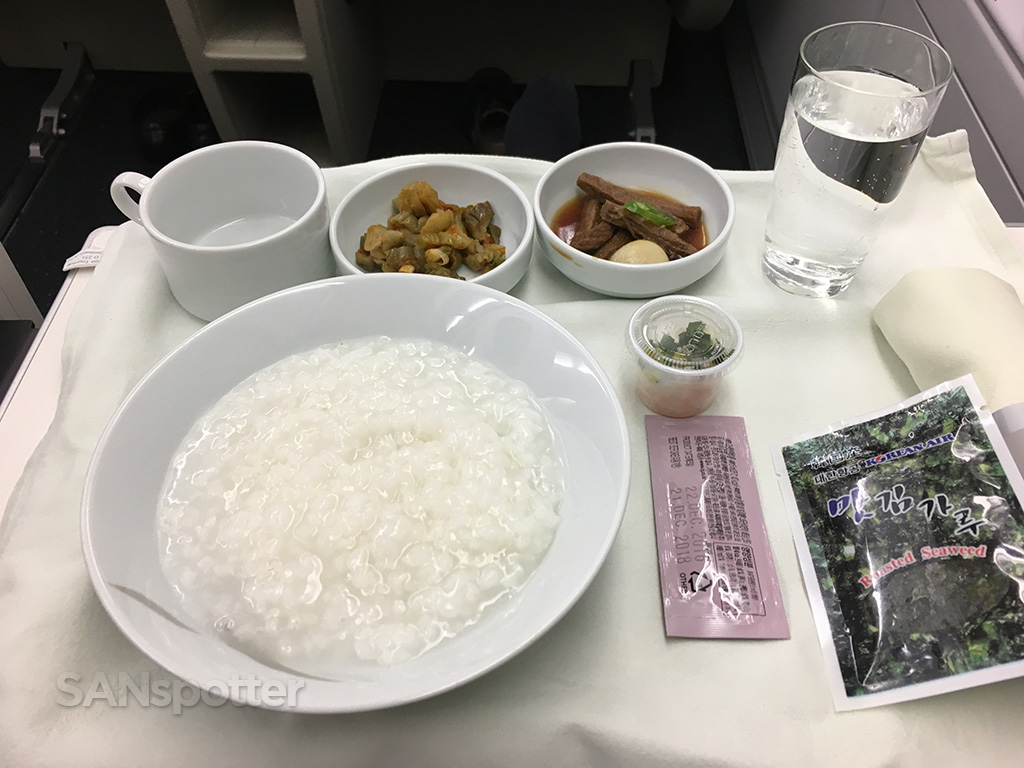 korean air business class breakfast