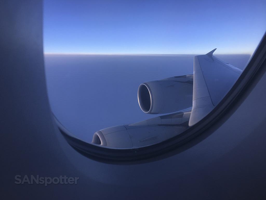 sunrise korean air a380 wing