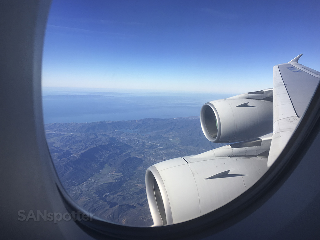 approaching LAX Korean Air a380
