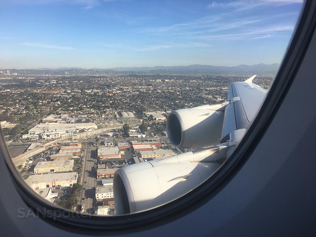 korean air A380 LAX approach