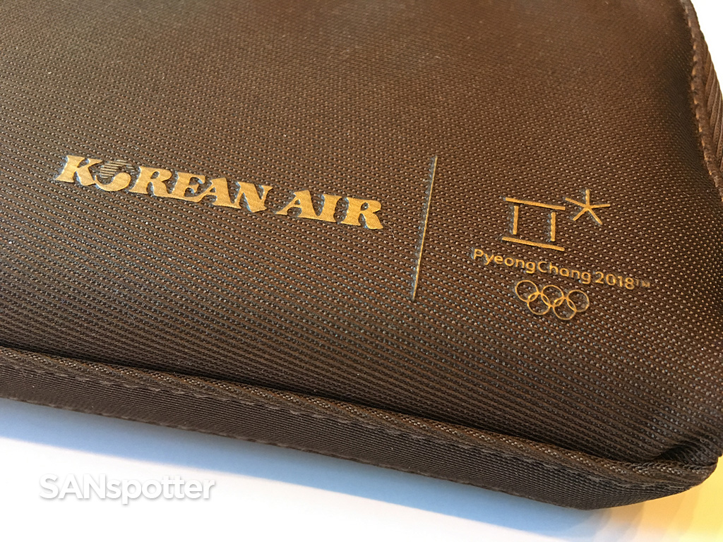 Korean Air business class amenity kit