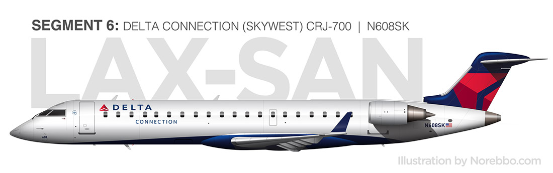 delta skywest CRJ-700 side view