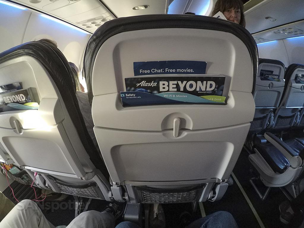 alaska airlines 737-800 seat back
