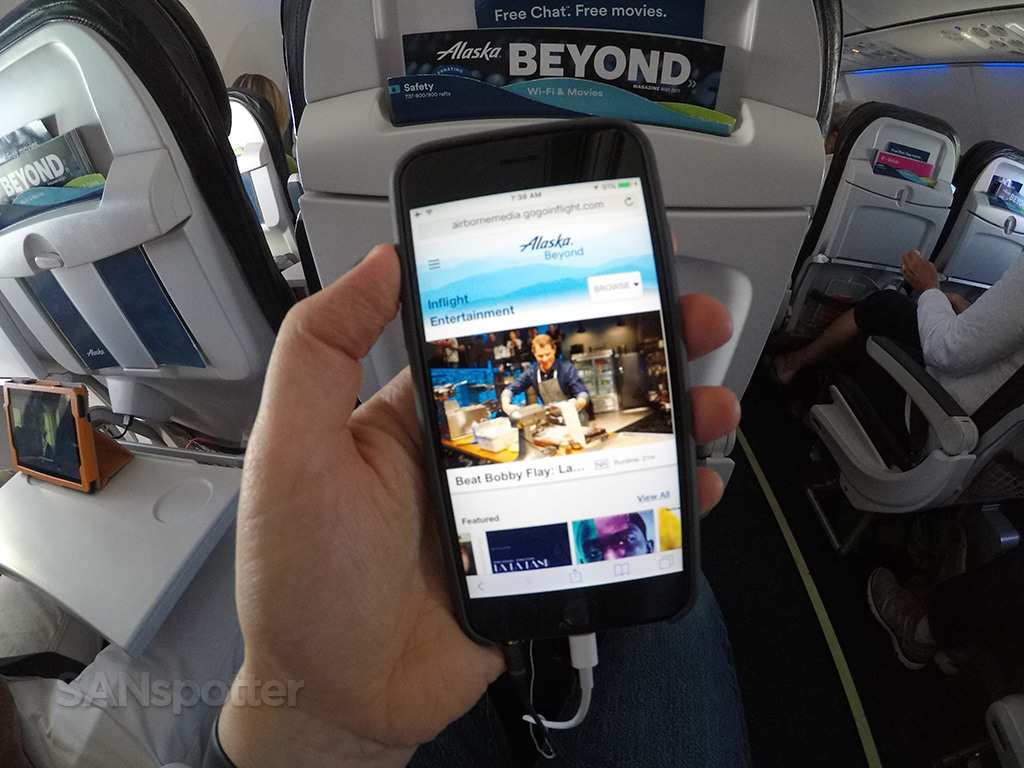 alaska airlines streaming entertainment