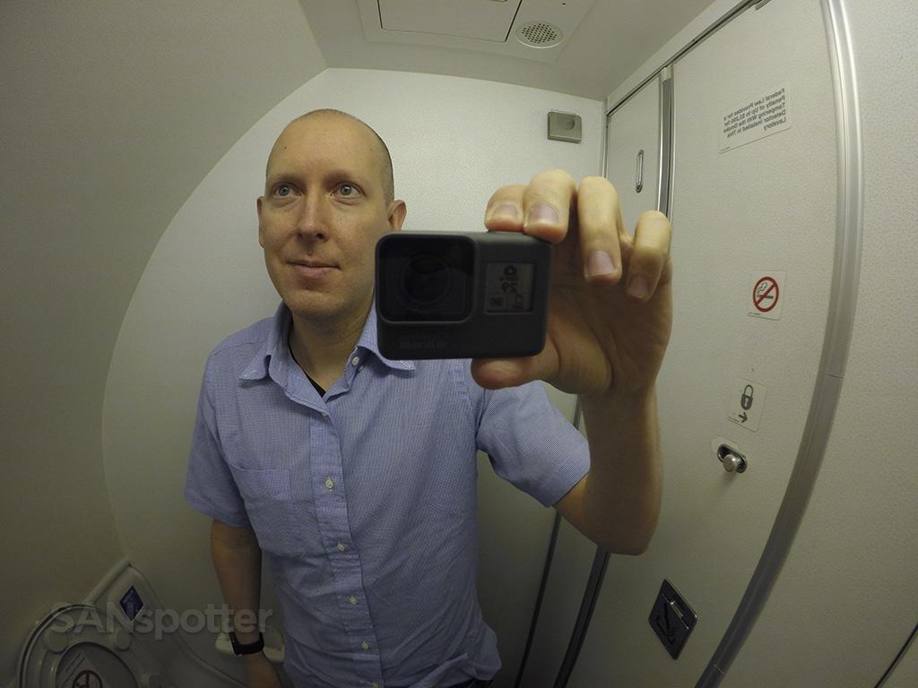 SANspotter lavatory selfie