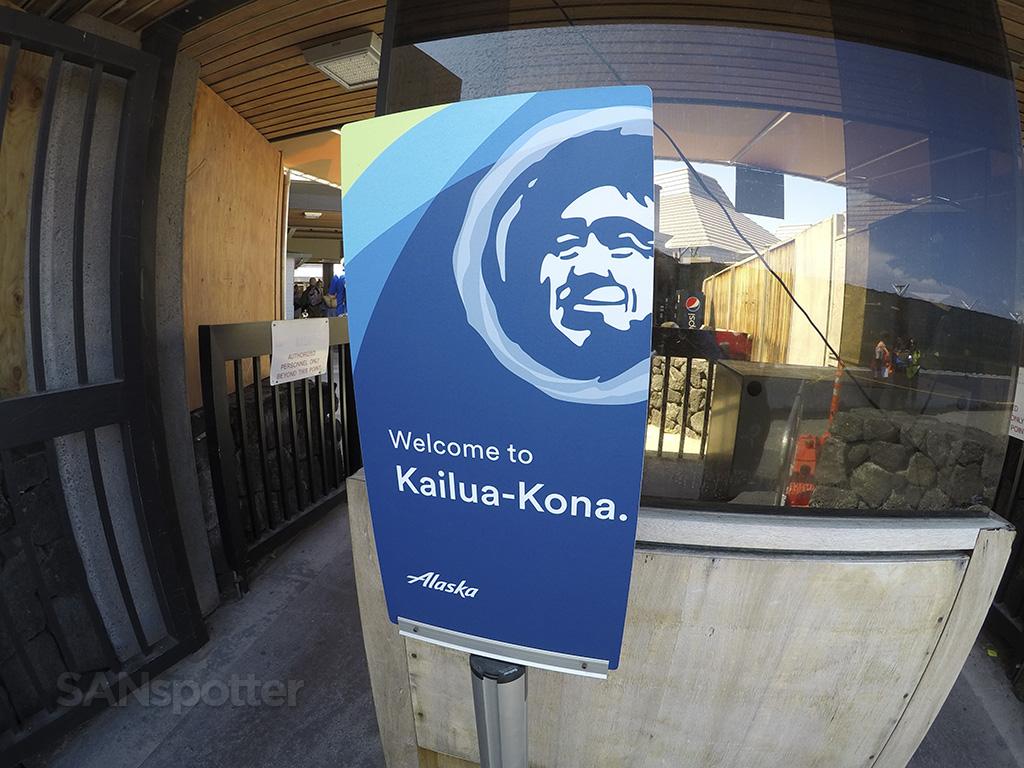 Kailua-Kona welcome alaska airlines