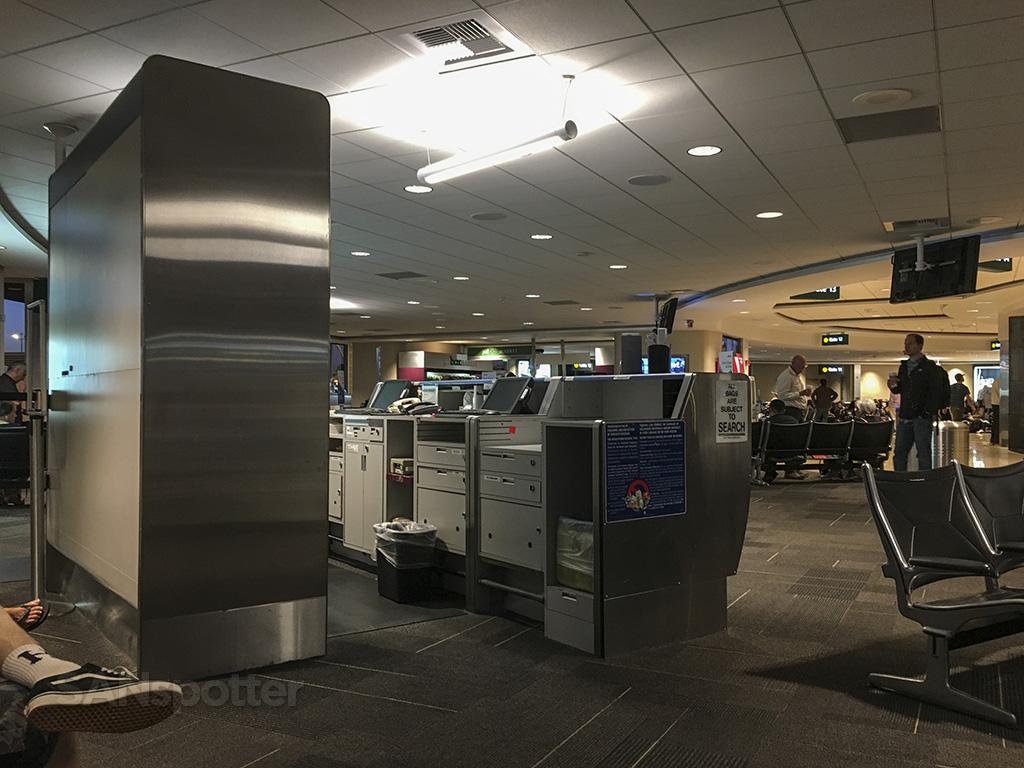 sitting in terminal 1 SAN