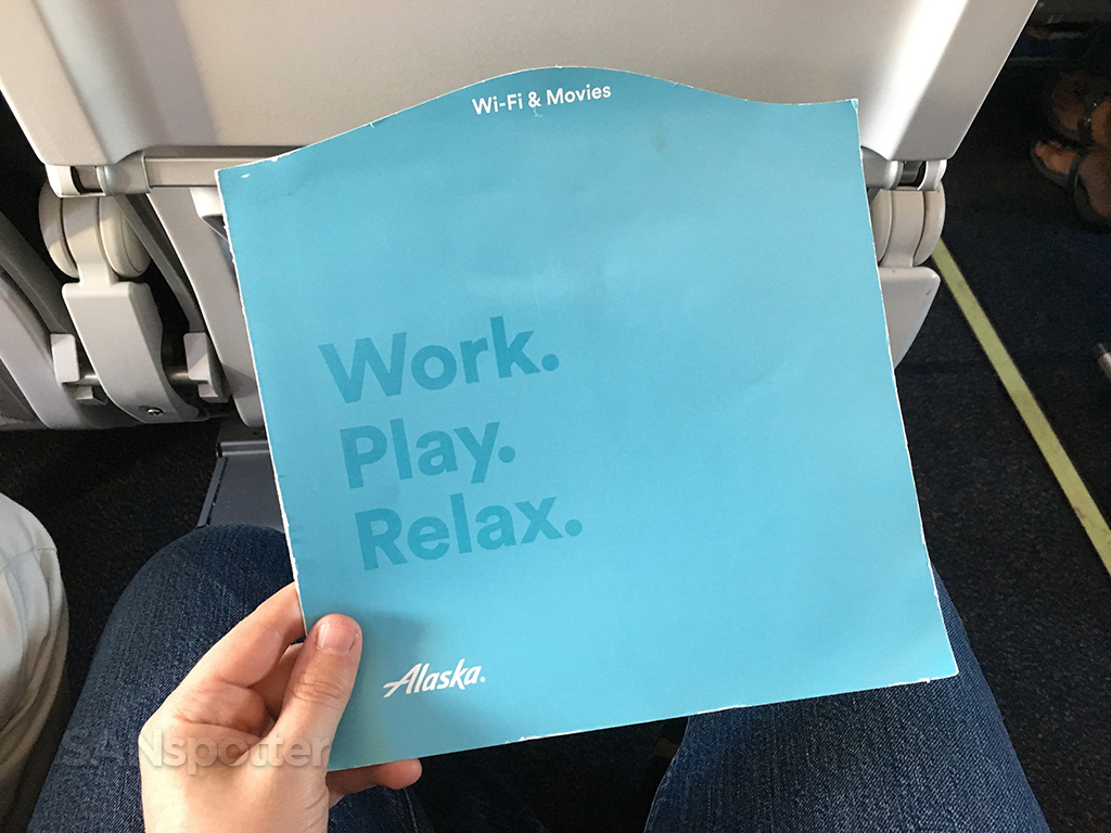 Alaska Airlines WiFi & Movies booklet