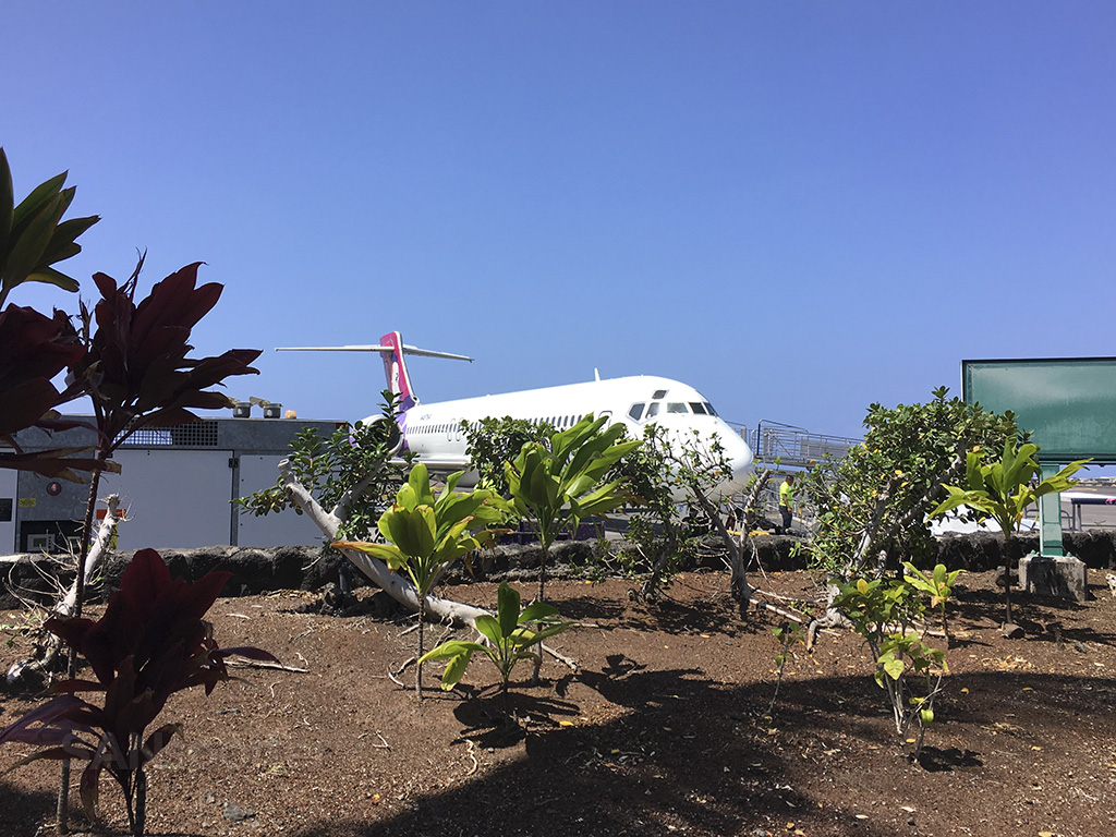 Kona airport open air