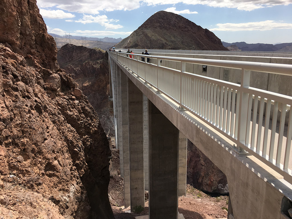 I93 bridge hoover dam pedestrian walkway