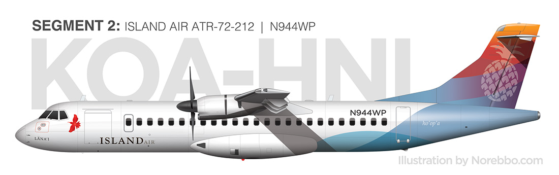 island air ATR-72 side view drawing