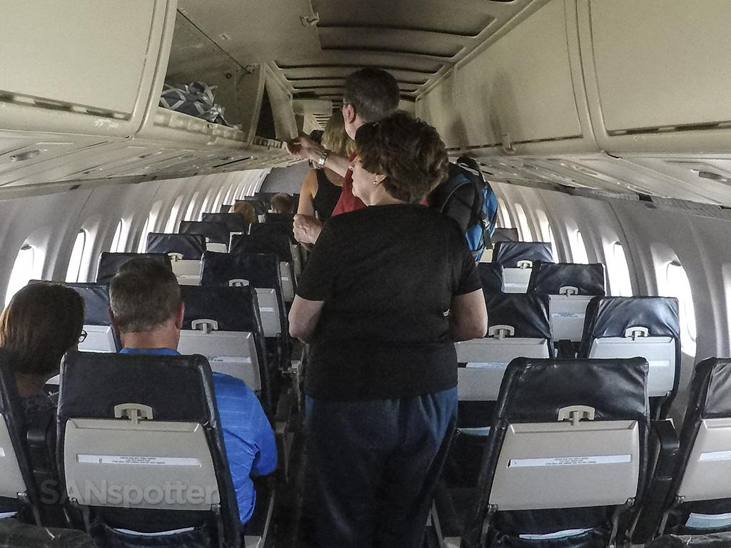 Island Air ATR 72 interior.