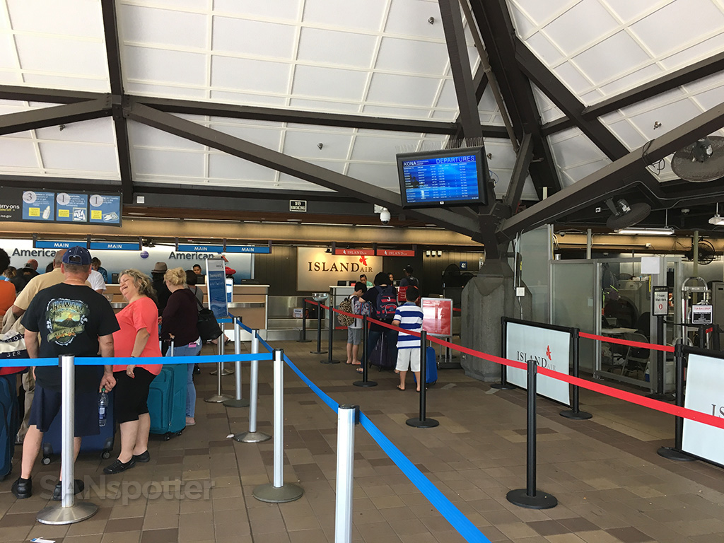 island air check in kona airport
