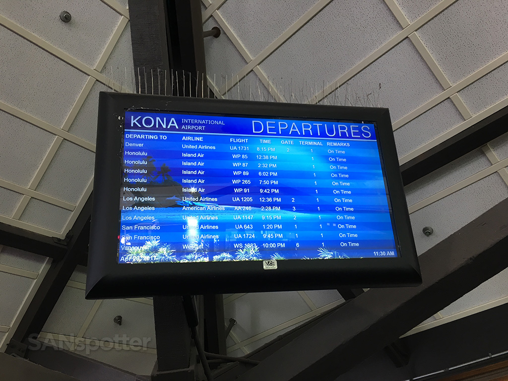 kona airport departures list