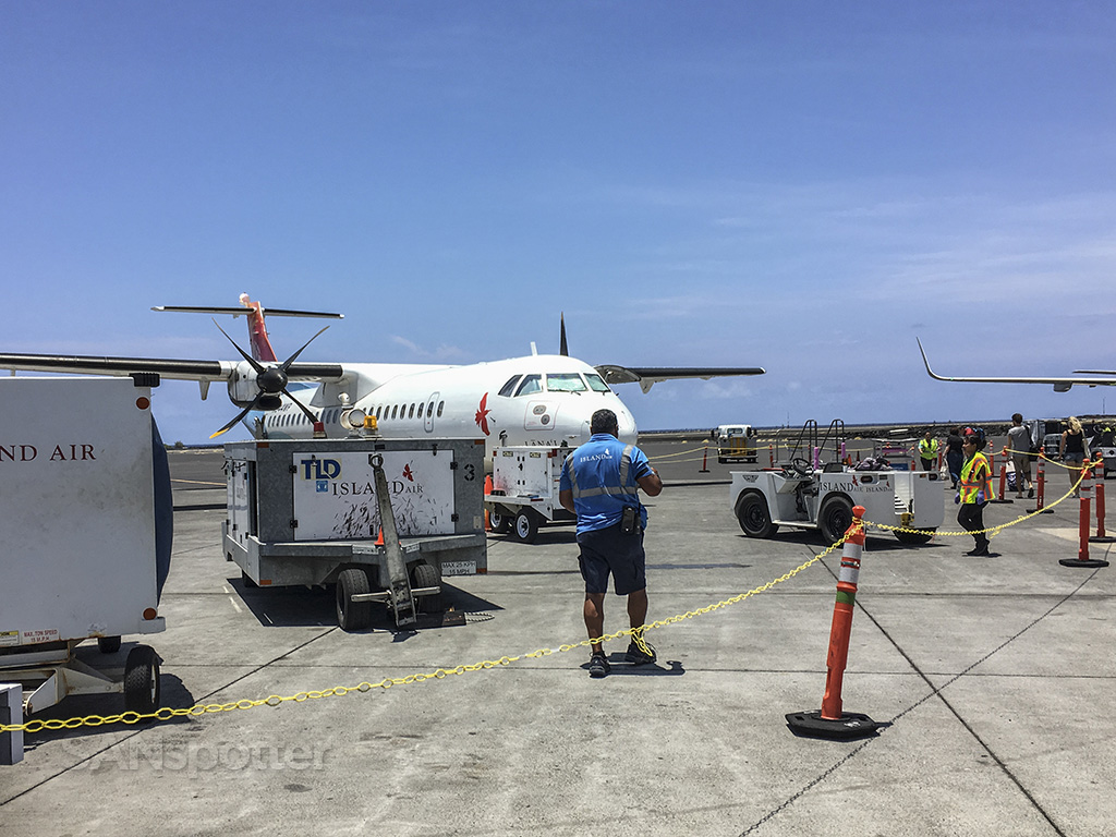 island air ATR 72 at gate Kona