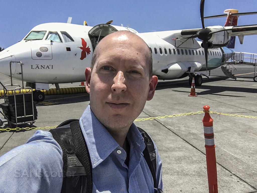 island air ATR 72 selfie