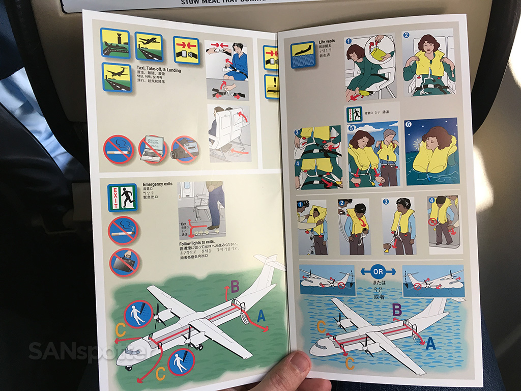 Island Air ATR 72 safety card inner cover