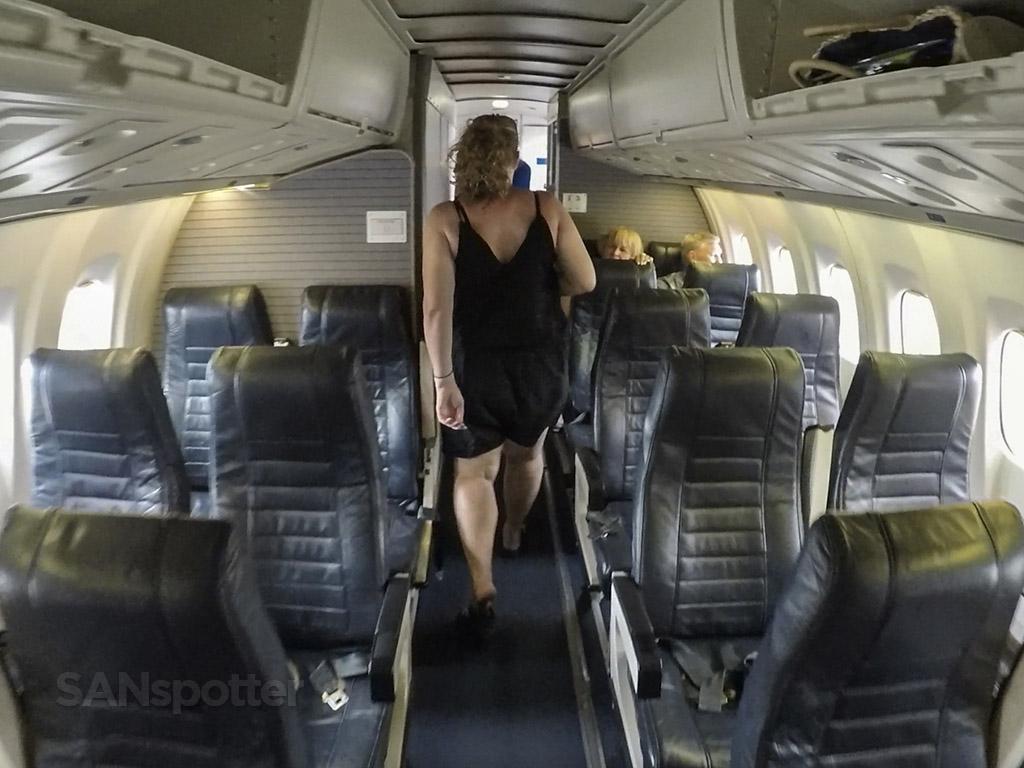 island air ATR 72 deplaning rear door