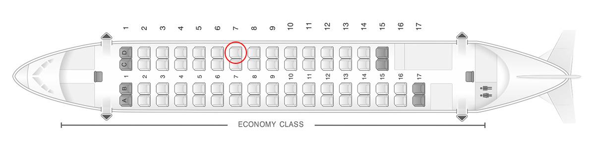 island air ATR 72 seat map