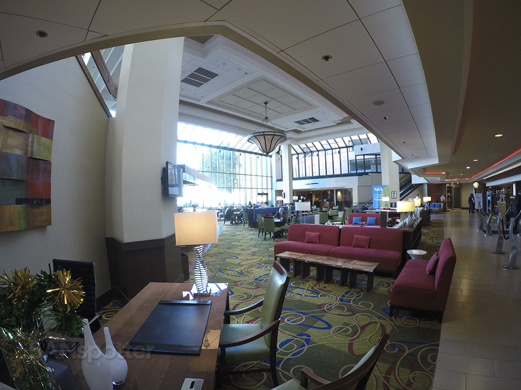 Main lobby of the San Francisco Airport Marriott