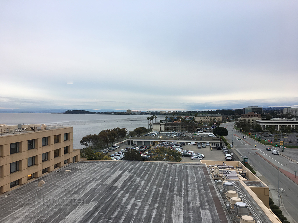 sfo marriott waterfront hotel room view
