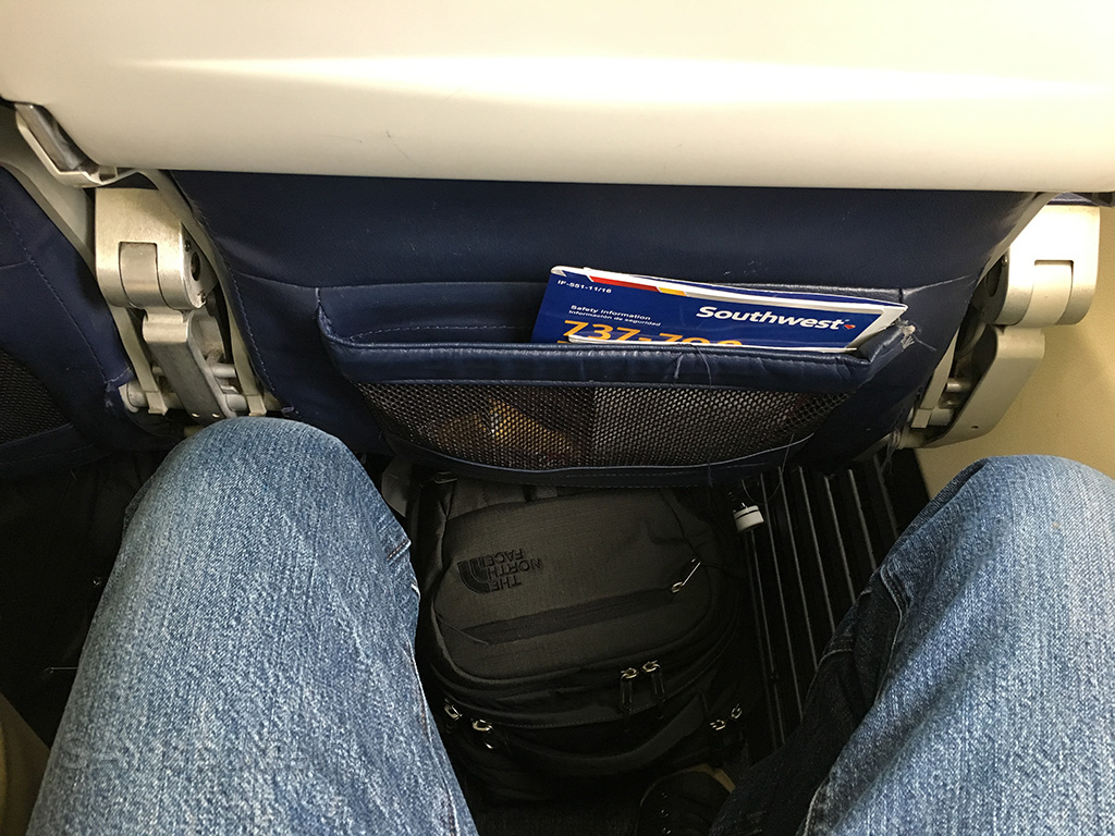 Southwest Airlines 737-700 leg room