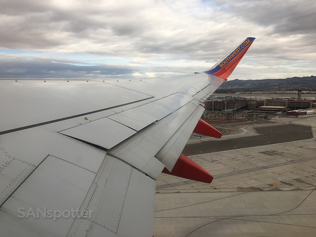 departing LAS southwest 737-700