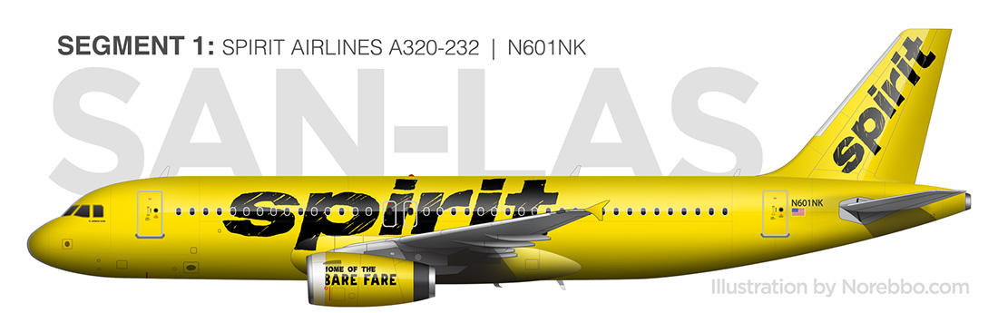 spirit airlines a320 side view drawing