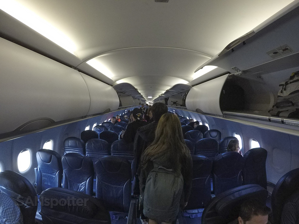 Spirit Airlines A320 interior