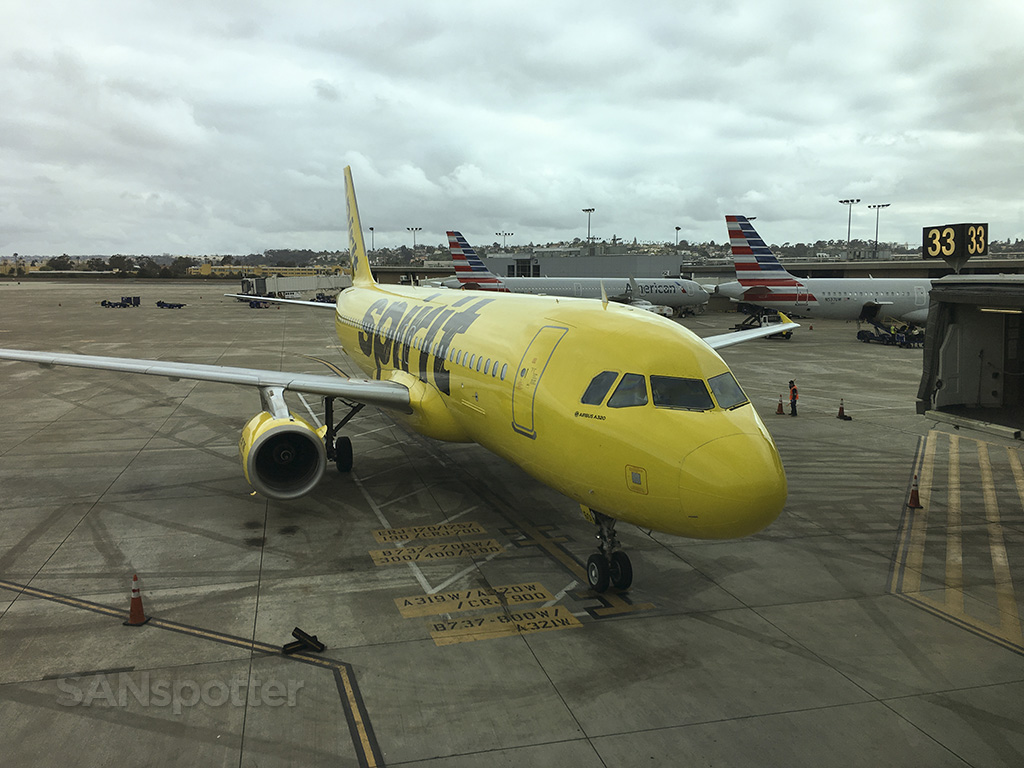 spirit airlines a320 main cabin san diego to las vegas sanspotter