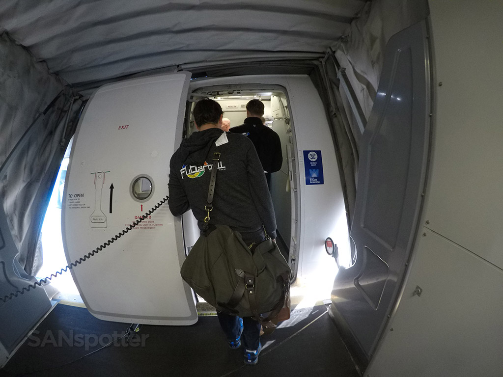 UA A320 boarding door