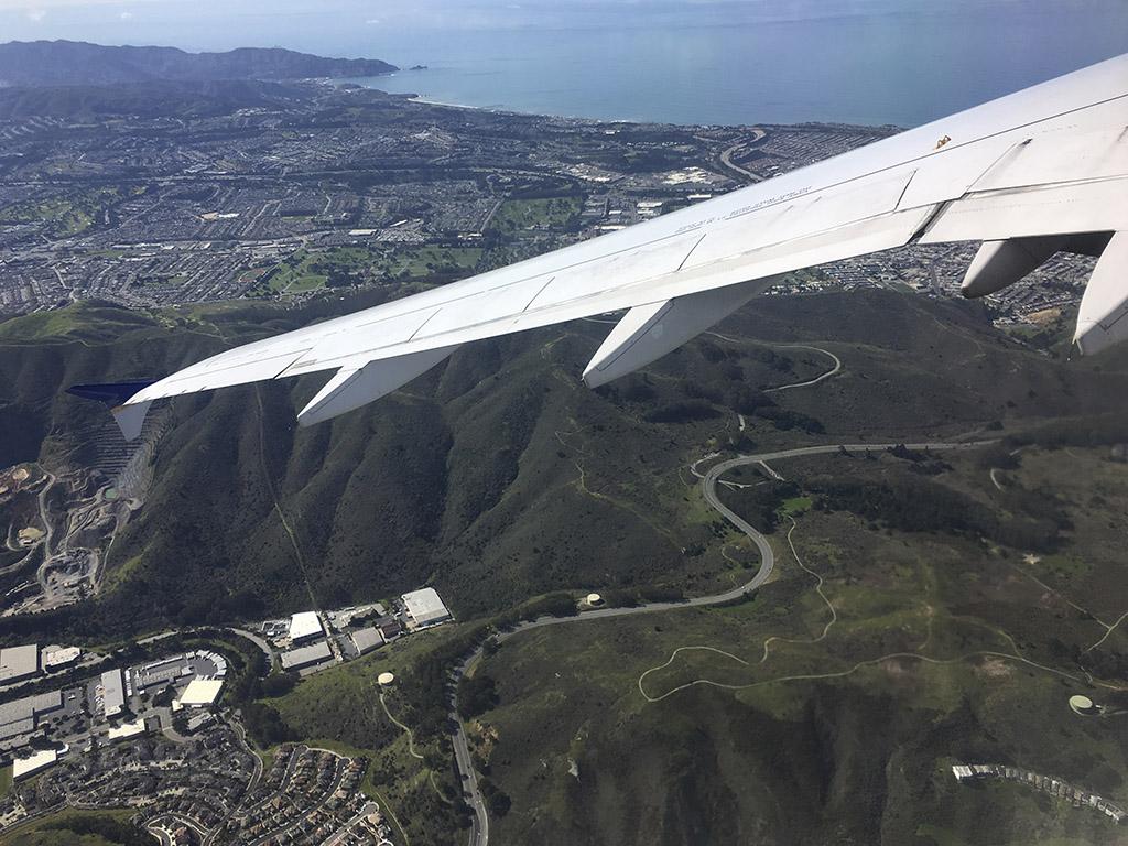 UA A320 SFO departure