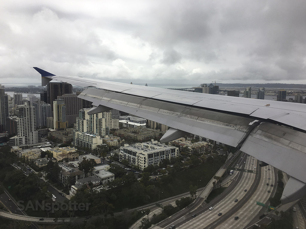 san diego airport downtown flight path