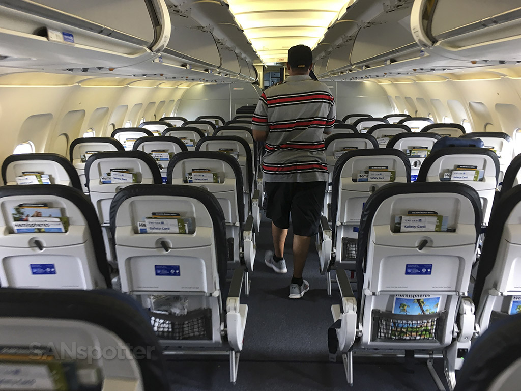 united a320 interior cabin