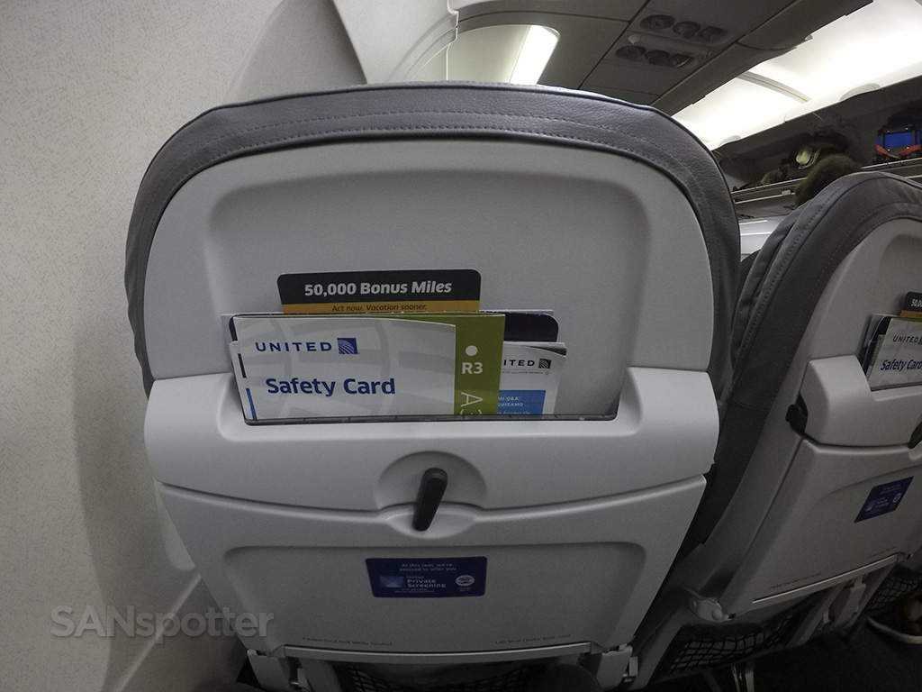 united airlines a320 seat back