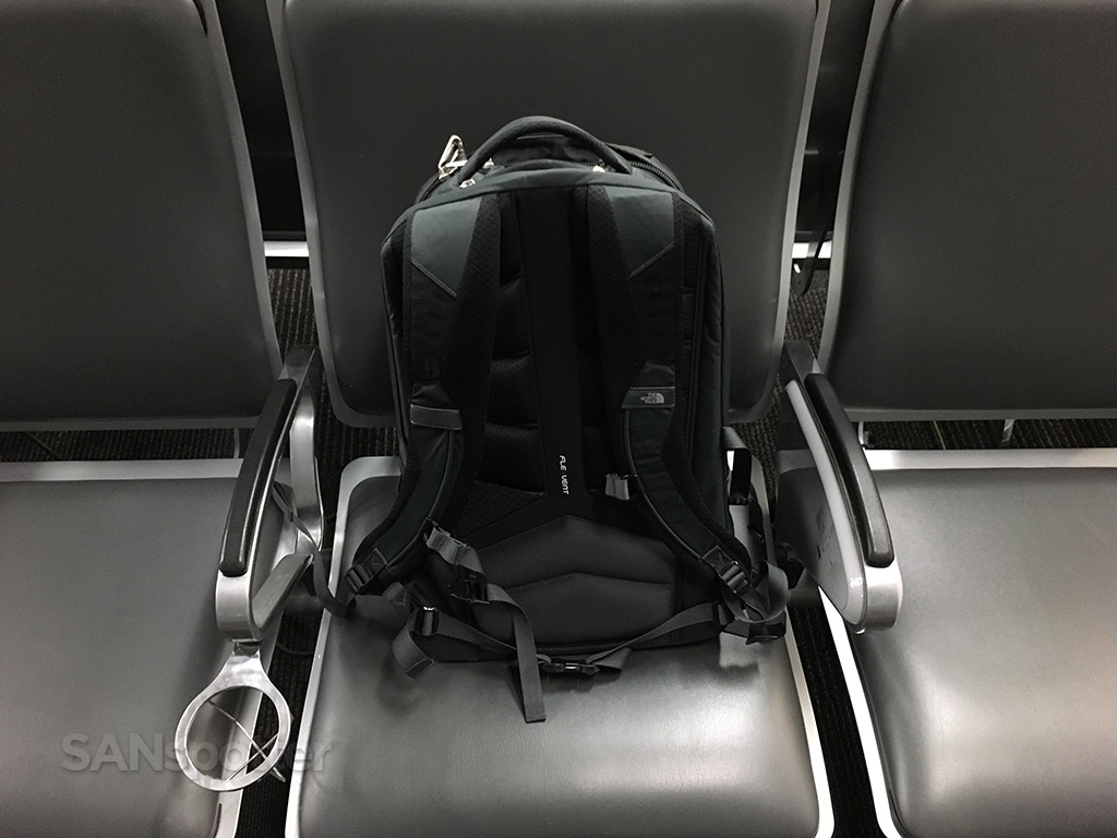 north face backpack airport