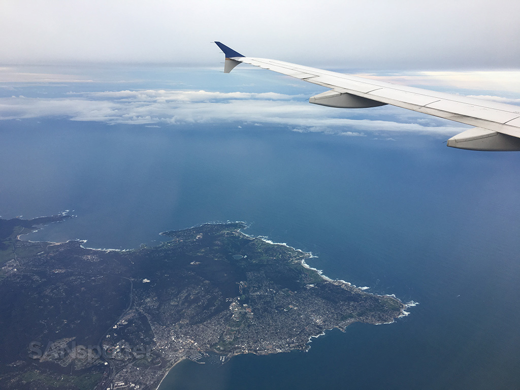 Monterrey peninsula from the air