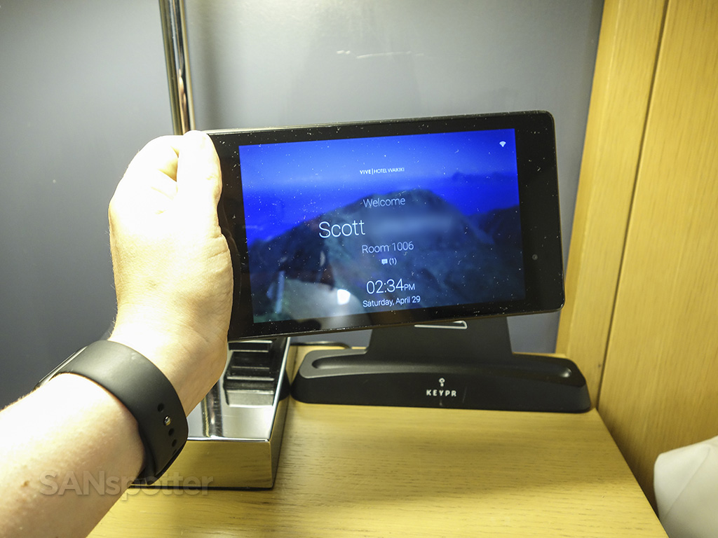 vive hotel in room tablet