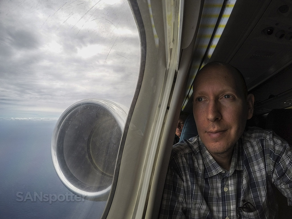 SANspotter airplane selfie